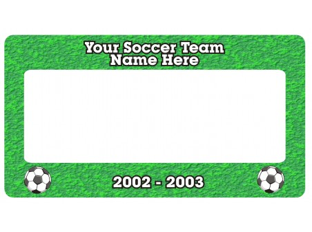 Soccer License Plate Frame - License Plate Frames - Personalized Gifts