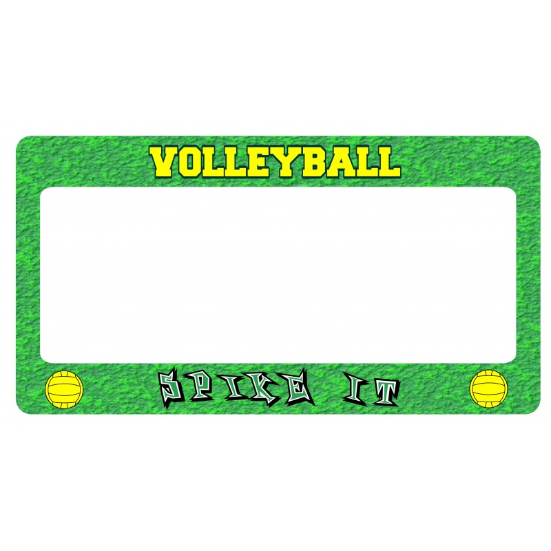 Volleyball License Plate Frame - Feature Products