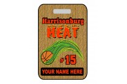 Basketball Bag Tag - Design 4 - Vertical