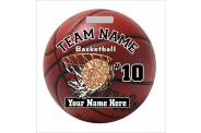 Basketball Bag Tag - Design 6 - Round Tag