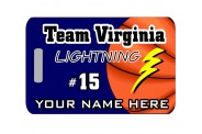 Basketball Bag Tag - Design 5 - Color Image