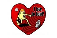 Bowling Key Chain - Design 2 - Heart
