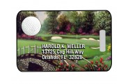 Golf Bag Tag - Design 2 - Full Color  - Rectangle