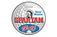 Golf Bag Tag - Design 4 - Golf Ball - Round