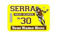 Lacrosse Bag Tag - Design 1 - Lacrosse Player