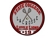 Lacrosse Magnet  - Design 2 - Crossed Sticks Small