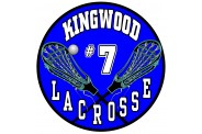 Lacrosse Magnet  - Design 3 - Crossed Sticks Large