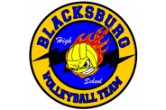 Volleyball Magnet  - Design 5 - Center Clip Art Image