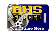 Soccer Bag Tag - Design 1 - Color Soccer Image