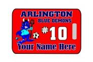 Soccer Bag Tag - Design 3 - Mascot Clip Art Image