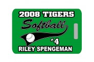 Softball Bag Tag - Design 5 -Softball Clip Art Image