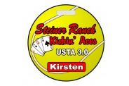 Tennis Bag Tag - Design 3 - Round Tennis Ball