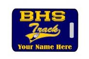 Track Bag Tag - Design 1 - Track Clip Art Image