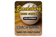 Volleyball Mouse Pad - Design 2 - Full Color