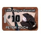 Baseball Bag Tag - Design 1