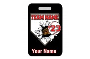 Baseball Bag Tag - Design 5 - Breakout Baseball