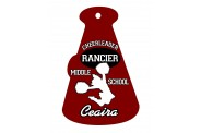 Cheer Bag Tag Megaphone - Design 1