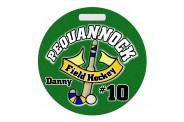 Field Hockey Bag Tag - Design 2 - Round