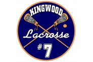 Lacrosse Magnet  - Design 1 - Crossed Sticks