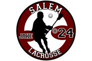 Lacrosse Magnet  - Design 4 - Player Image - Male