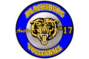 Volleyball Magnet  - Design 3 - Small White Center Image