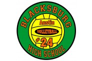 Volleyball Magnet  - Design 4 - Small Yellow Center Image