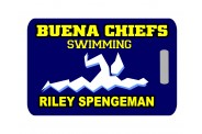 Swim Bag Tag - Design 1 - Swimmer Image