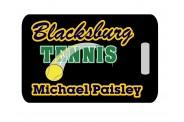 Tennis Bag Tag - Design 1 - Tennis Image