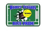 Tennis Bag Tag - Design 2 - Tennis Court